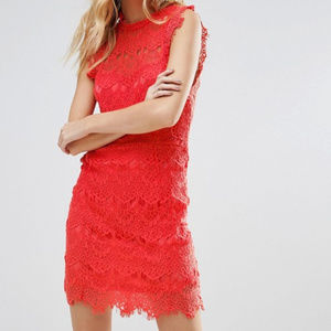💥 New Free People Coral Lace Mini Dress 💥